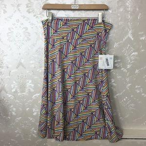 LuLaRoe Skirts - 🔴4 FOR $30🔴LuLaRoe Pastel Geo Print Azure Skirt
